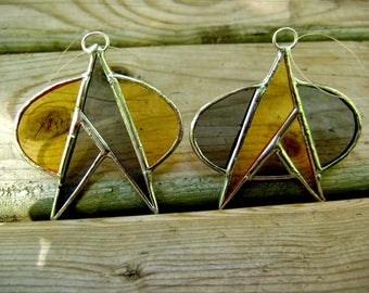 Star Trek Inspired Trekkie Trekking Stained Glass Sci Fi Tree Ornament Next Generation Deep Space 9 Handmade OriginalDesign©