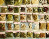 Apothecary Starter Set, 125+ Herbs, Flowers and Wood Samples, Witch Wizard Pagan Druid Celtic Ritual Woods and Spiritual Practice Supplies
