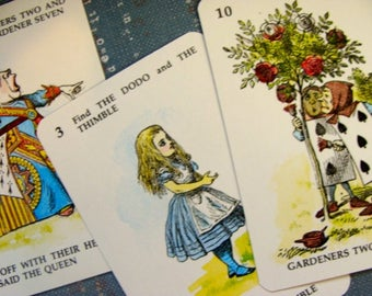 Rare Vintage Alice in Wonderland Collector Cards Lot