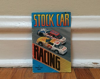 Stock Car Racing Vintage Book Paperback Children's Library