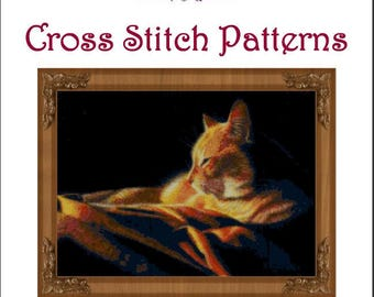 By the Light of the Fire Cross Stitch Pattern