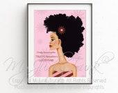 Good Hair-African American Natural Hair Black Woman Art Afro Print