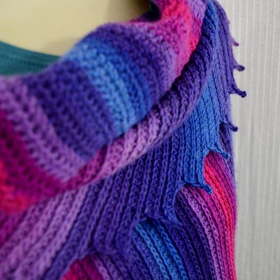Knitting Pattern For Whisper Scarf : Crochet Pattern Shawl or Cowl Scarf Shawlette Whisper sock