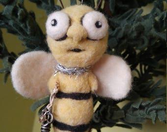 Felted Hanging Honey Bee