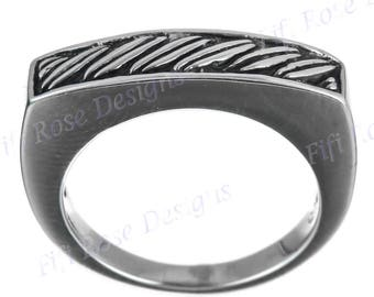 Mens Bali Handmade Artisan 925 Sterling Silver Band Sz 6.5 Ring