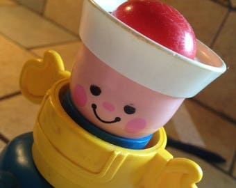 1984 Squeak and Peek Sailor Toy by Fisher Price