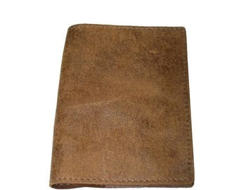 15% OFF Oak Brown Leather Passport Cover For Men & Women - Accessories