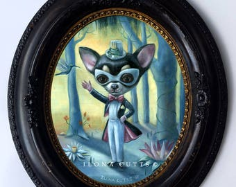 Little Illusionist Original Oil painting by Ilona Cutts