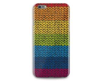 Rainbow Knitting Phone Case - Free shipping USA and Canada