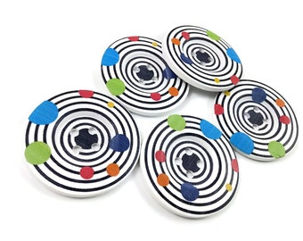 2 inch big buttons - Disco wooden sewing buttons