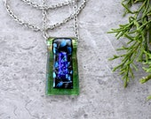 Evergreen Architectural Dichroic Glass Pendant