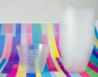 Resin Mixing Cups Pack of 100 Measuring cups, Plastic Cup, Disposable portion cup, Medicine Cup
