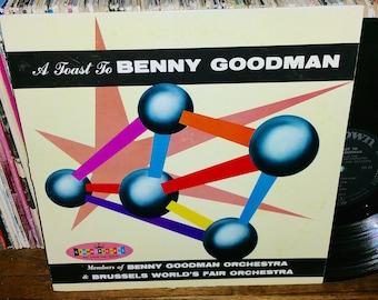 A Toast to Benny Goodman Vintage Vinyl Record