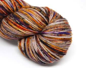 "Dubstep DK Yarn - ""Haunted Harvest"" - Handpainted Superwash Merino - 231 yards"