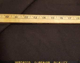 Wool Herringbone Weave Gabardine Dark Dark Brown almost 3-1/2yd