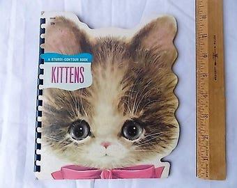Vintage 1966 Kittens Sturdi Contour Book
