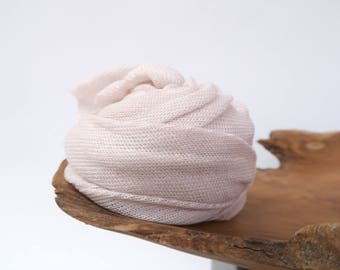 Newborn Wrap, Newborn Photo Props, Stretch Knit Fabric, Girl Photo Props, Light Pink Swaddle Wrap, Ready to Ship Props, Gardenia Lux Swaddle