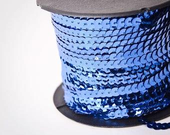 10 yard , Royal Blue Single Strand Sequin Trim