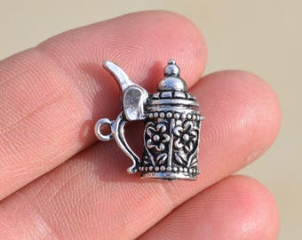 1  Silver Beer Stein Charm SC1270