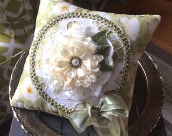 Handmade Decorative Pillow - Victorian Pillow - Bedroom Pillow