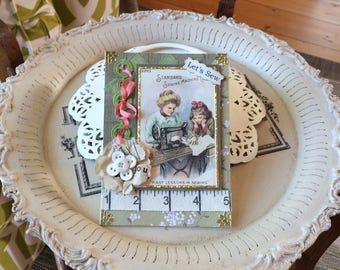 Sewing-themed Card - Seamstress Card - Vintage Vogue Card - Vogue Sewing Card