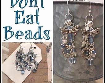 Blue Dragon Fly Earrings #17july809