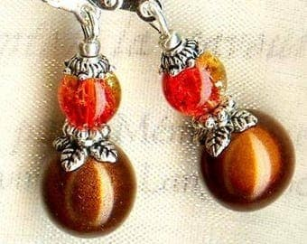 Earrings ❀ Piccola ❀ chocolate & FIREOPAL OR700