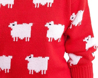 40% SUMMER SALE The Vintage Red Lamb Sweater