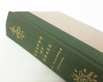 LEAVES of GRASS. Walt Whitman. Vintage Book. Hardcover. The Deathbed Edition.