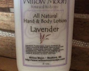 All Natural Lavender Hand and Body Lotion