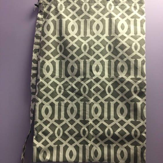 Personalized Grey Vine Print Laundry Bag