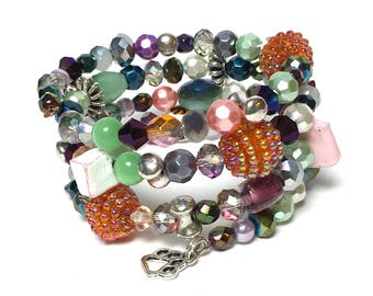 JUST BECAUSE Coil Beaded Bracelet by Beading Divas fundraiser