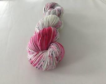 Pink Polka - Hand-dyed Merino Sock Wool 4 ply