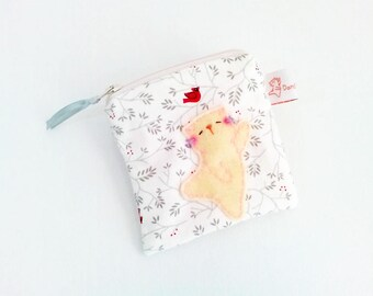 Christmas gift, cat coin purse, coin purse, cat pouch, daughter gift, cute coin purse, gift for girls, cat zipper pouch, cat coin pouch