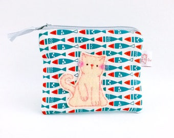 Cat fish coin purse, cat fish pouch, fish purse, cat wallet, cute fish purse, fish coin purse, cute coin purse, cute pouch, cute purse