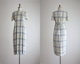 linen check market dress