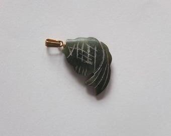 Antique JADE Stone Pendant fish