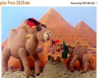 40% OFF SALE Instant Digital File knitting pattern - Camel Mother and Baby toy animal pdf download knitting pattern.