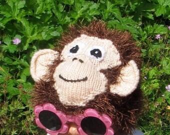 40% OFF SALE Instant Digital File pdf download Baby Monkey Beanie Hat pdf download knitting pattern
