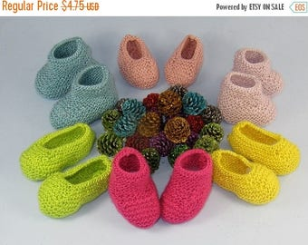 40% OFF SALE Digital pdf file knitting pattern -Really Easy Baby Booties and Slippers knitting pattern pdf download by madmonkeyknits
