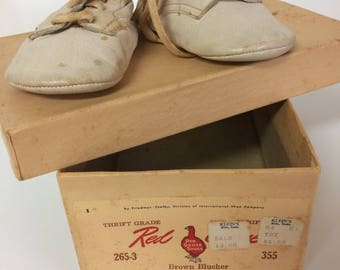Vintage Leather Baby Booties
