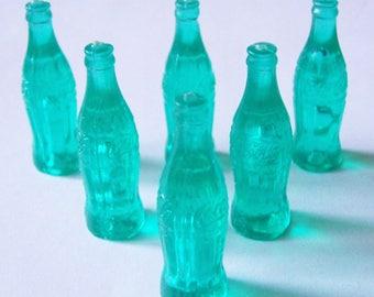 """6 Coca Cola Bottle Miniatures Charms 1 5/8""""h"""