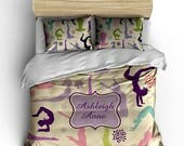 4th of July Sale Personalized Custom Bedding Gymnastics - available Toddler, Twin, Full/Queen or King Size