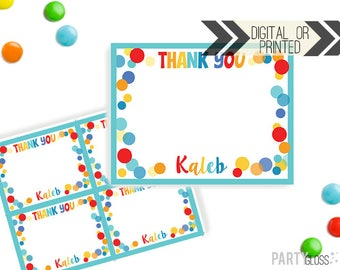 Bounce Play Thank You Card | Bounce House Thank You | Digital or Printed | Gymnastics Party | Jump Party Thank You Note | Bounce House Party