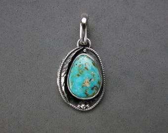 Small Turquoise Sterling Silver Pendant