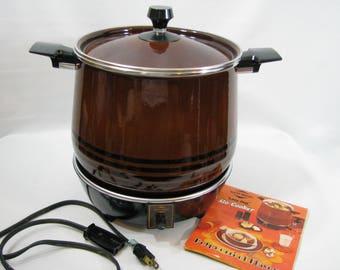 Vintage West Bend Lazy Day 6 Qt Slow Cooker Crock Pot