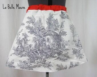 Skirt yuki white and black