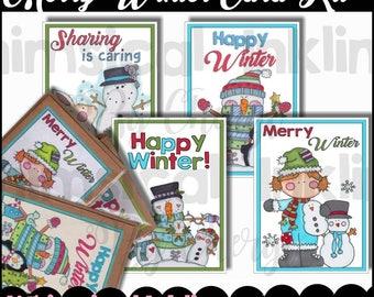 Merry Winter Card Kit - Immediate Download