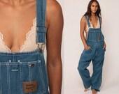 Baggy Overalls 90s Denim GRUNGE Pants Bib Dungarees Long Jean Pants 80s Boyfriend Suspender Hipster Vintage Carpenter Large