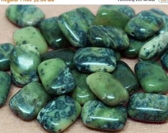 20% OFF LOOSE Gemstone Beads - Chrysoprase Rectangles - Olive Green, Black, Gray (4 beads) - Gem1099
